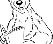 Coloriage Grizzly humoristique
