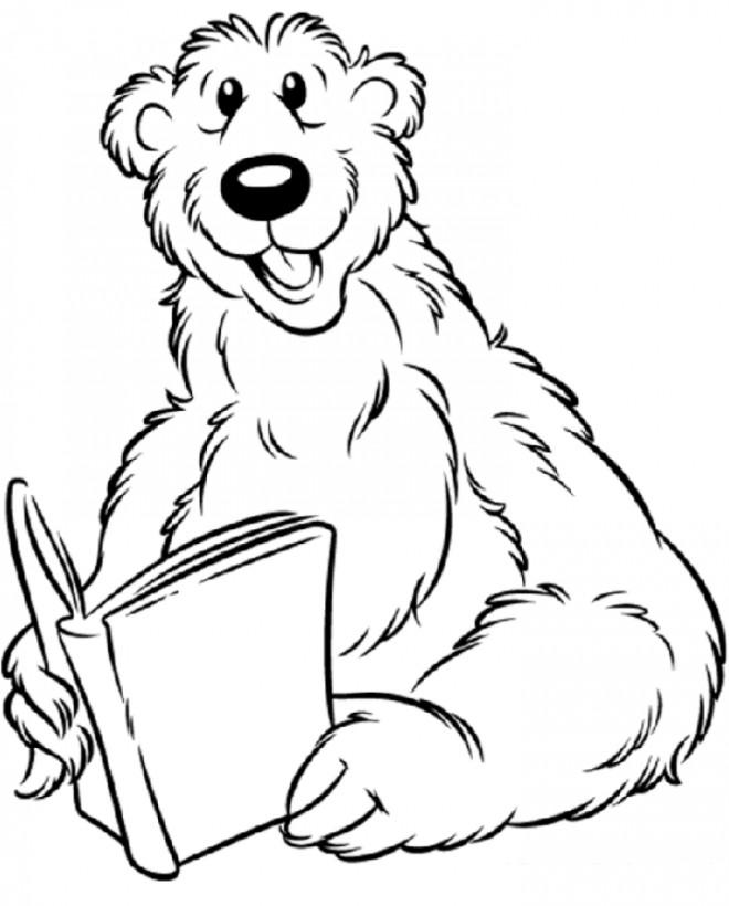Coloriage grizzly humoristique dessin gratuit imprimer - Dessin de grizzly ...
