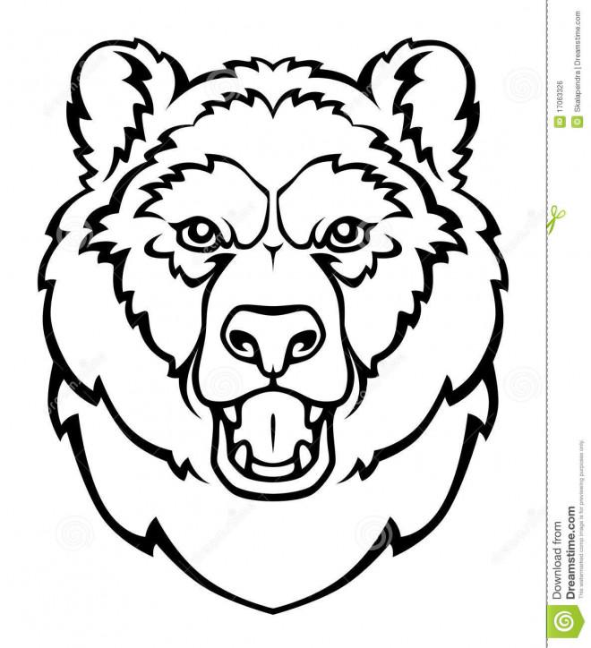 Coloriage et dessins gratuits Tête de Grizzly à imprimer