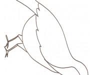 Coloriage et dessins gratuit Hirondelle à compléter à imprimer