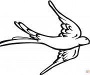 Coloriage et dessins gratuit Hirondelle à découper à imprimer