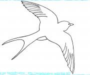 Coloriage et dessins gratuit Hirondelle dans le ciel à imprimer