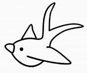 Coloriage et dessins gratuit Hirondelle en ligne à imprimer
