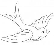 Coloriage Hirondelle en ouvrant ses ailes