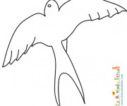 Coloriage et dessins gratuit Hirondelle facile à imprimer