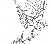 Coloriage et dessins gratuit Hirondelle maternelle à imprimer