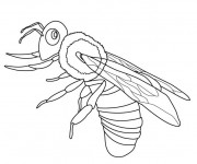 Coloriage Abeille simple