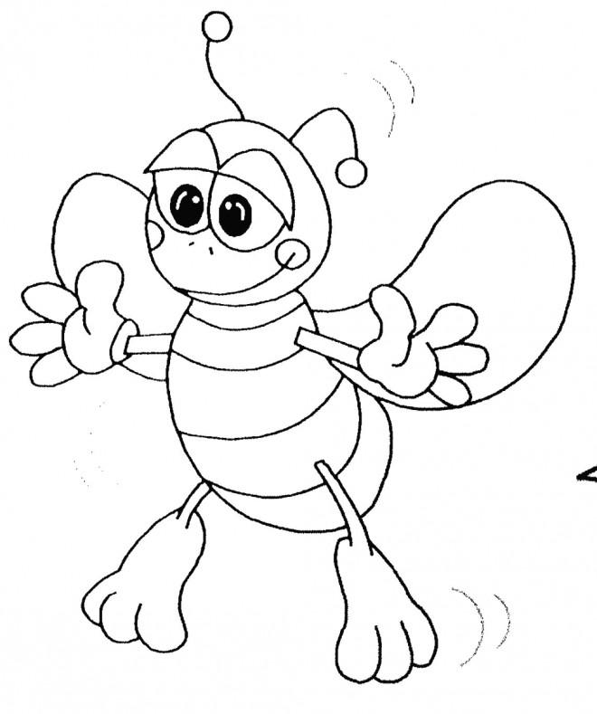 Coloriage et dessins gratuits Insecte Abeille à décorer à imprimer