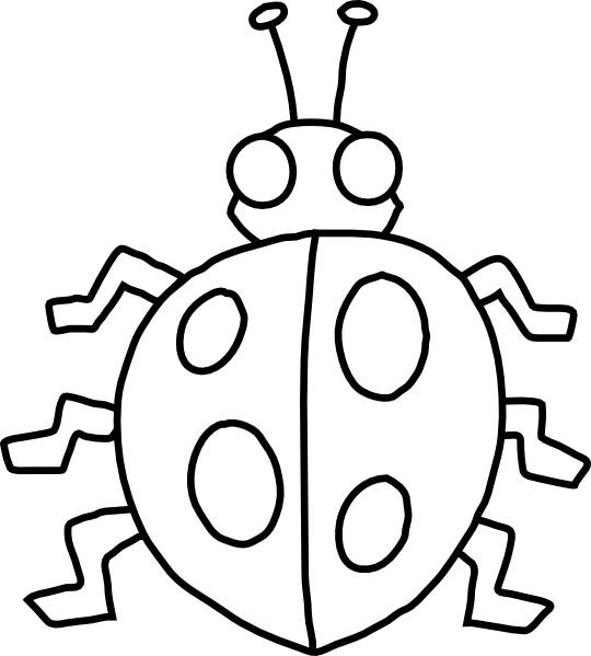 Coloriage et dessins gratuits Insecte Coccinelle à découper à imprimer