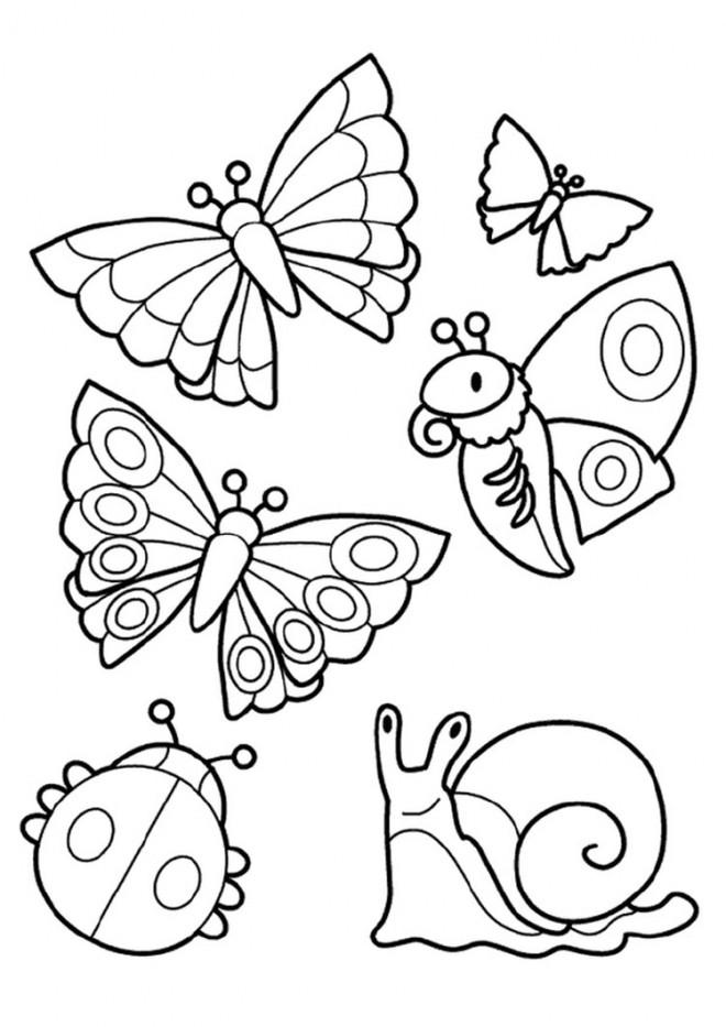Coloriage et dessins gratuits Insectes en couleur facile à imprimer