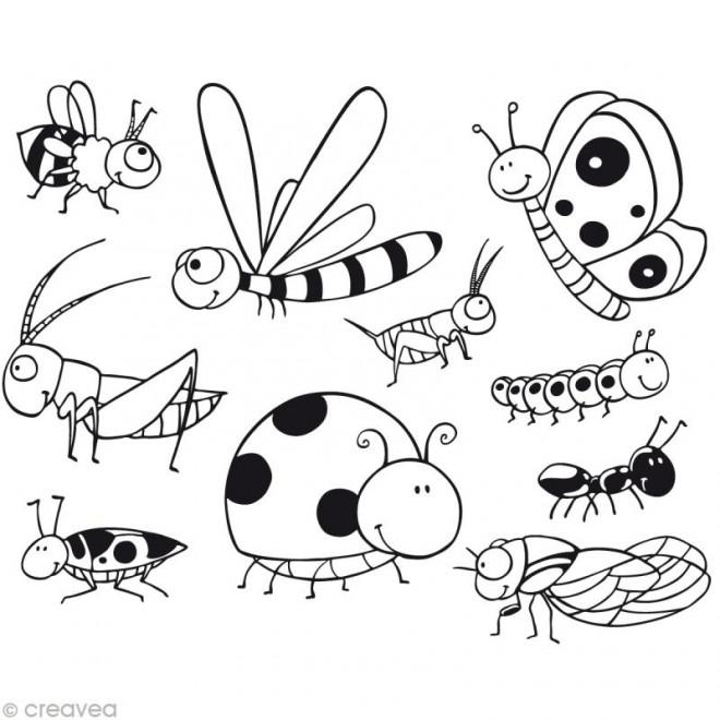 Coloriage et dessins gratuits Insectes rayés à imprimer