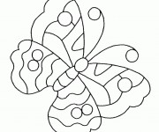 Coloriage dessin  Papillon Maternelle 27