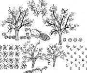 Coloriage et dessins gratuit Arbres de Jardin à imprimer