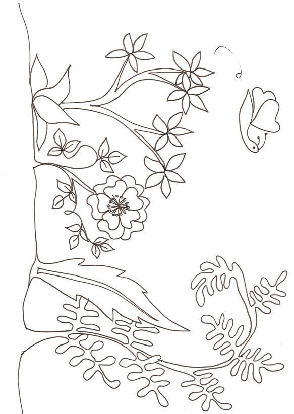 Coloriage et dessins gratuits carré de fleur à imprimer
