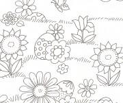 Coloriage dessin  Champs 4