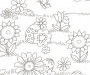 Coloriage et dessins gratuit Champs et Papillons à imprimer