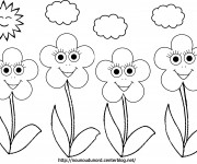 Coloriage dessin  Fleur 34