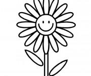 Coloriage Fleur souriante