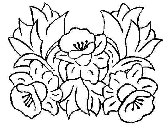 Coloriage et dessins gratuits Fleurs de jardin pour décoration à imprimer