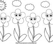 Coloriage et dessins gratuit Fleurs en plein air à imprimer