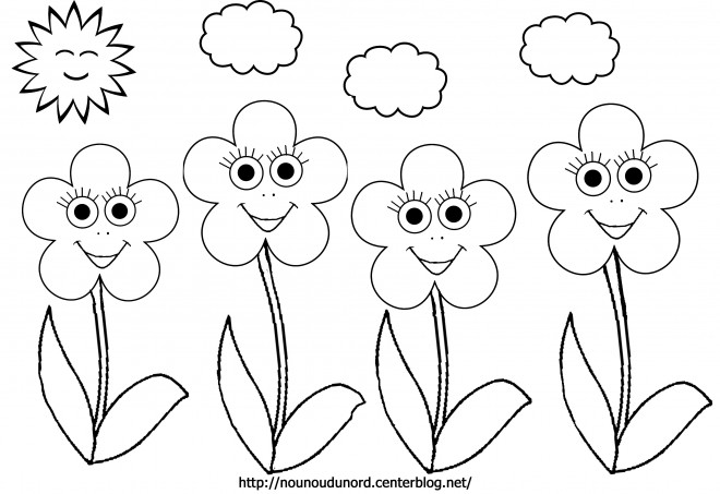 Coloriage et dessins gratuits Fleurs en plein air à imprimer