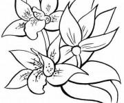 Coloriage et dessins gratuit Fleurs stylisés à imprimer