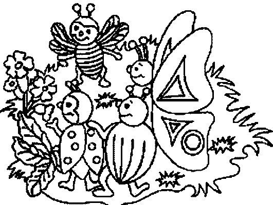 Coloriage et dessins gratuits Insectes dans le Jardin à imprimer