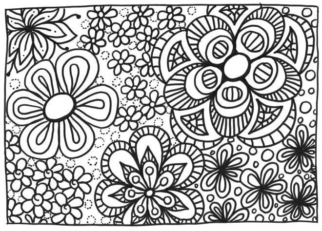 Coloriage et dessins gratuits Jardin et Fleurs mandala à imprimer