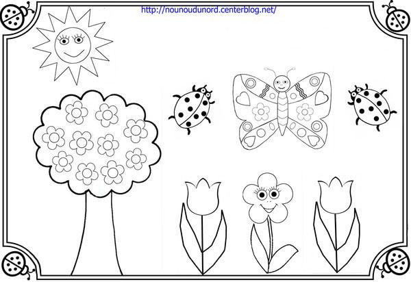 Coloriage et dessins gratuits Jardin et Fleurs pour enfant à imprimer