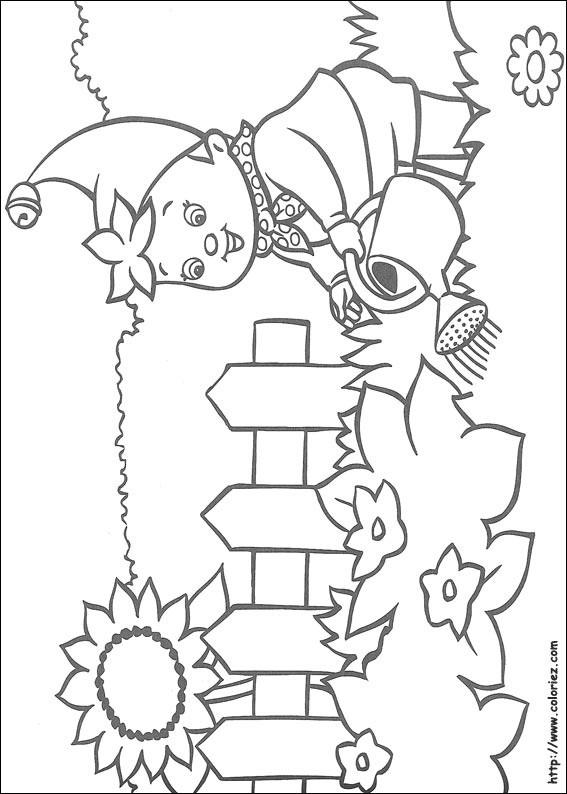 Coloriage et dessins gratuits Jardin Fleurs Arrosage à imprimer