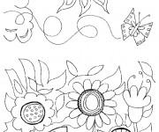 Coloriage et dessins gratuit Jardin Fleurs en Printemps à imprimer