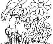 Coloriage et dessins gratuit Jardin Fleurs et Fruits à imprimer