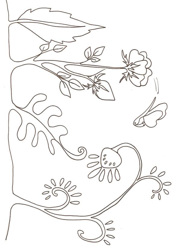 Coloriage et dessins gratuits Jardin Fleurs facile à imprimer