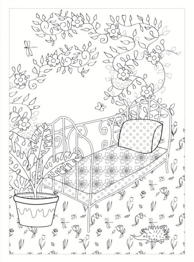 Coloriage et dessins gratuits Jardin mandala à imprimer