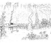 Coloriage dessin  Adulte Jardin 20