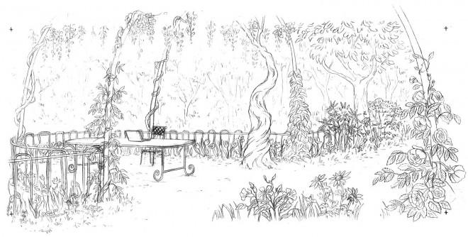 Coloriage et dessins gratuits Adulte Jardin Magnifique à imprimer