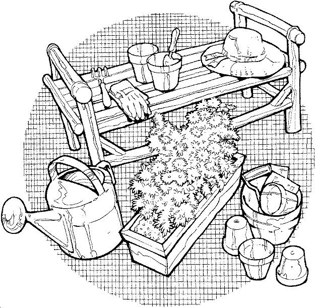 Coloriage et dessins gratuits Ferme au crayon à imprimer