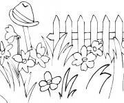 Coloriage Fleurs au Jardin