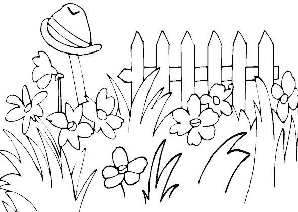 Coloriage et dessins gratuits Fleurs au Jardin à imprimer