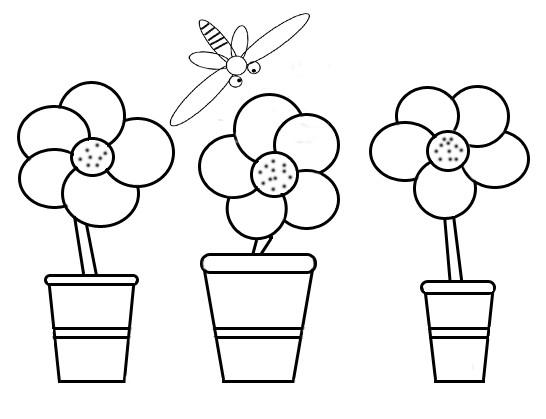 Coloriage et dessins gratuits Fleurs et  Abeille à imprimer