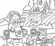 Coloriage dessin  Jardin 1