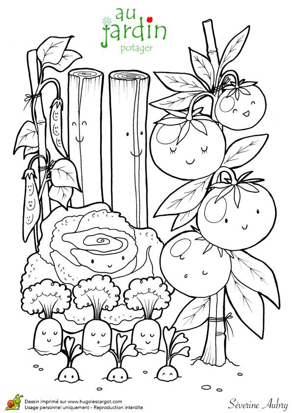 Coloriage et dessins gratuits Jardin au crayon à imprimer