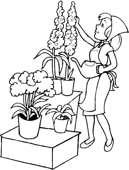 Coloriage jardin de fleurs dessin gratuit imprimer for Image de jardin a imprimer