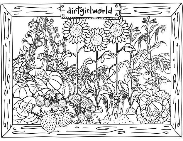Coloriage et dessins gratuits Jardin Dirtgirl world dessin animé à imprimer
