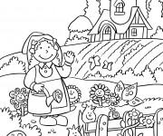 Coloriage Jardin et Fermier