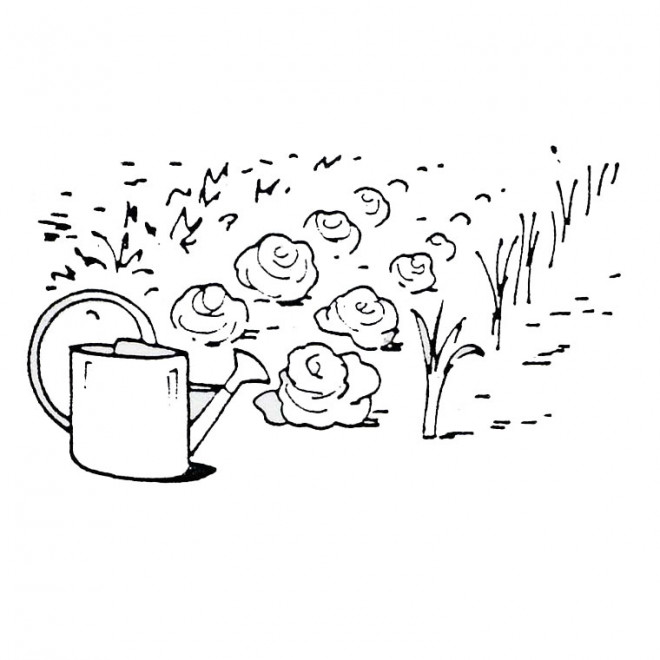 Coloriage jardin et l gumes dessin gratuit imprimer - Dessin jardinier humoristique ...