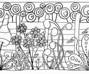 Coloriage Jardin  et Plantes