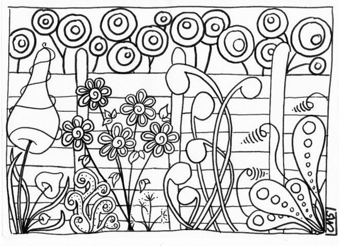 coloriage jardin et plantes dessin gratuit imprimer. Black Bedroom Furniture Sets. Home Design Ideas