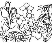 Coloriage Jardin maternelle