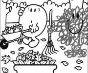 Coloriage et dessins gratuit Jardinage maternelle facile à imprimer